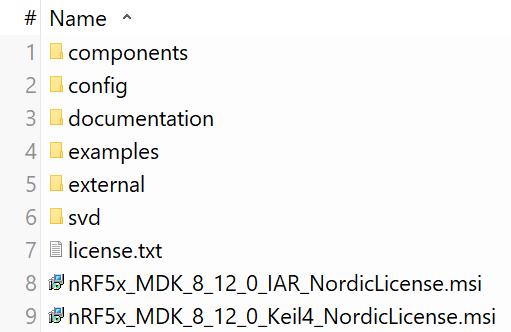 Nordic_Dev_SDK_structure