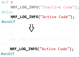 Inactive Code Color